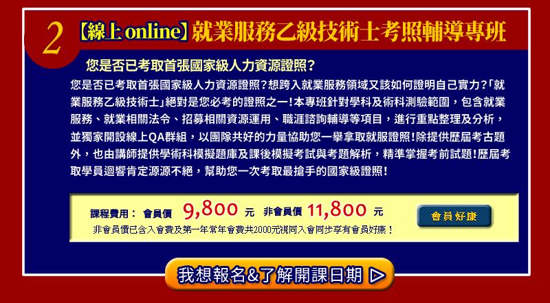【線上 online】勞健保暨勞動法規管理師認證班